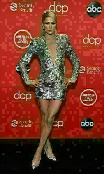 Paris Hilton at the 2020 American Music Awards.