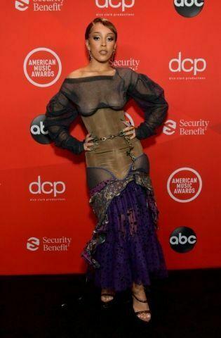 Doja Cat at the 2020 American Music Awards.