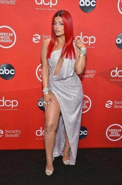 Bebe Rexha at the 2020 American Music Awards.