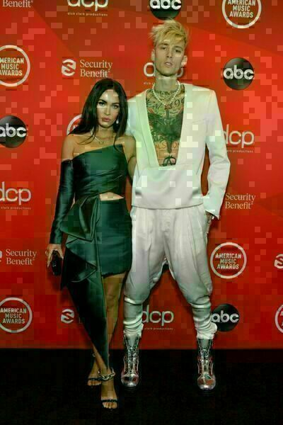 Megan Fox and Machine Gun Kelly attend the 2020 American Music Awards at the Microsoft Theater on Sunday in Los Angeles.