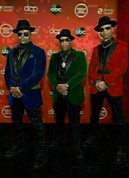 Ricky Bell, Michael Bivins and Ronnie DeVoe of the R&B group Bell Biv DeVoe attend the 2020 American Music Awards at the Microsoft Theater on Sunday in Los Angeles.